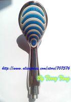 HI-Q beautiful Plastic Handheld Bathroom  Shower Sprayer Head Bathing Washing Shower Nozzle head  Mirror Chrome
