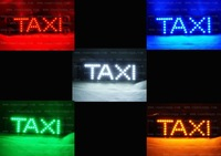 TAXI LOGO Car  Mark Third Brake Light  Additional Brake Light  Glass Acetabula