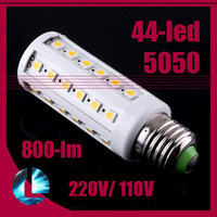 9W E27|E14 44 LED Cool White|warm white 5050 SMD Energy Saving Lamp Corn Bulb Light 110V or 220V