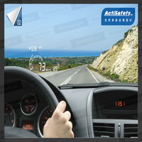 New Arrival ActiSafety Multi Car HUD ASH-4C More Details Showing OBD Insert Head Up Display OBD2 3 COLOR