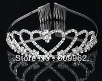 Benlaiya Free Shipping 3pcs/Lot Nice Flowers Bridal Tiaras and Crowns Crystal Wedding Hair Accessories Bridal Hair Ornament 0092