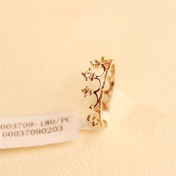 Sunshine  jewelry store rhinestone studded crown ring J125 ($10 free shipping )