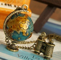 New arrival !! Telescope Globe Necklace . 36pcs/lot. Free shipping
