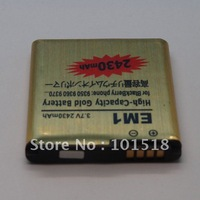 30pcs/lot&Free shipping GOLD 2430MAH JHigh Capacity Gold EM1 Battery For Blackberry Curve 9360 9370