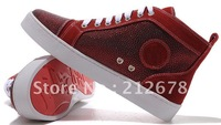 Genuine Leather Men Running Shoes, Brand Design Sports Shoes, red bottom men shoes