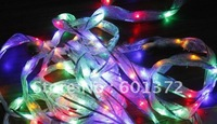5M 40 LEDs Wedding/Christmas/holiday celebration  pavilion decoration LED star ribbons /lace band lamp