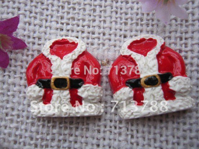 flat back resin christmas present for phone decoration 12pcs/lot(China (Mainland))