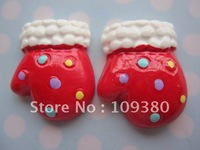 2012 new ,20pcs/lot, Flat back resin Christmas gift for hair &cell phone deceration- Christmas