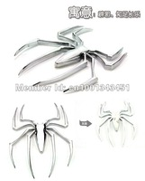 Free shipping New Metal electrofacing 3D spider Car sticker Large wholesale