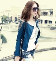 Women's Jacket Fashion Motorcycle Coat Tassel Short Design Slim PU Leather Clothing