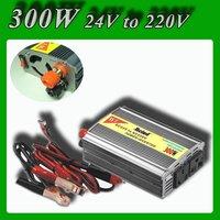 Meind Modified sine wave Car power inverter converter 300W DC 24V to AC 220V Car power converter With cigarette lighting
