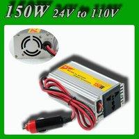 Meind Modified sine wave 150W DC 24V to AC 110V USB Mobile Car Power Inverter converter with cigarette lighting