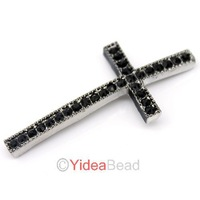 Hot Sale 36pcs Crystal Rhinestone Curved Cross Connector For Bracelet 160488