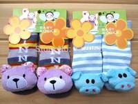 Free shipping wholesale 24 pairs /lot many design anti-slip floor baby infant socks children socks 3D socks