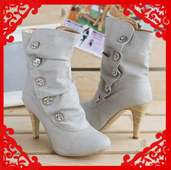 Free Shipping 2013 fashion sexy ladies high heel ankle boots and shoes, snow boots for women #Y10114F(China (Mainland))