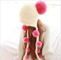 New Arrival lady's Crochet Hat Knot winter hat for lady Hip-Hop Knitted Beanie Hat free shipping wholesale