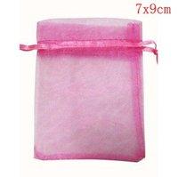 Hot! 500 pcs/lot 7X9CM Silk Organza earrins ring neckalce Jewelry Wedding Gift Pouch Bags packaging bag BX031