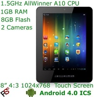 "Low cost 8"" Onda Vi30 Elite MID AllWinner A10 CPU 1024x768 Capacitive screen 1080p HD HDMI 3G OTG dual camera WiFi Android 4.0"
