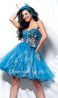 Free Shipping Strapless Sweetheart Animal Print Dress 21120 Wedding Dresses Evening/Prom/Homecoming Quinceanera Dresses