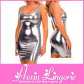 Promotion! Wholesale / Retail Women's One Piece Sexy Silver Clubwear Dress LB3018