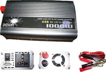 New 1000W  Inverter 12v 220v Power Inverter with USB for Car Converter Free shipping