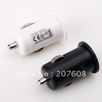 Global Free shipping 1000mA Mini USB Car Charger Adapter For iPhone 3G S 4G 80pcs/lot