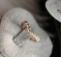 Sunshine jewelry store brief v shape finger ring J205 ( $10 free shipping )