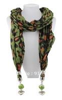 Hot 1pc Wholesale fashion handmade tassels lady's Cotton pashmina wrap scarf Acrylic Resin beaded pendant necklace shawl jewelry
