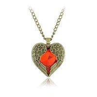 (Mix Minimum order is 10USD) Angle Heart  Pendants Necklaces Vintage Jewelry Wholesale 10PCS/LOT