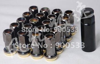 Project Kics Racing Composite R40 Wheel Lug Nuts 16 + 4 Nuts, M12X1.5MM , Electroplating Color Zinc color/Black Color