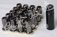 Project Kics Racing Composite R40 Wheel Lug Nuts 16 + 4 Nuts, M12X1.5MM , Electroplating Color Zinc color/Black Color