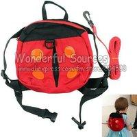 5pcs/lot+Free shipping Baby Backpack Ladybug Kids shoulders bag Toddler Walking Safety Harnesses Backpack Baby anti-lost Bag