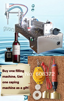 bottle capping machine+1000ML capacity,horizontal type,automatic sucking,beverage,perfume,liquid chilly sauce filling machine