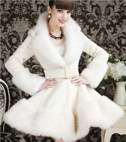 S-XL  free shipping Manufacturers supply new Women's Fur Swing Coat Jacket dress (with belt) #S99