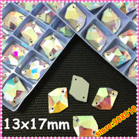 140pcs 13x17mm Cosmic shape Sew on Rhinestones crystal AB color ,17x13mm special stones sew on stones for Dress Making