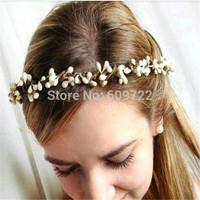 New Year 100pcs Artificial Bead Pear Stem Decorative Flower Stamen Wedding Pip Berry Wreath / Bracelet Garland Cream  FL111