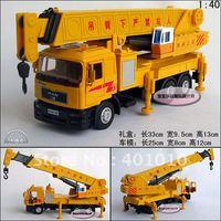 1:40 MAN Heavy duty 6 wheel crane luxury gift box alloy car model free air mail
