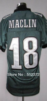 Free Shipping!!! 2012 new style #18 Jeremy Maclin 2012 new green jersey