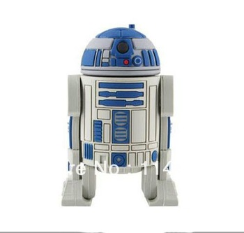 STAR WAR R2-D2 robot plastic genuine 4GB/8GB/16GB/32GB usb drive pen drive usb flash drive wholesale