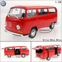 1:24 Volkswagen Vw classic commercial car t2 exquisite alloy car model free air mail