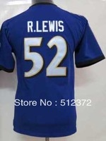 Free Shipping!!! 2012 new style #52 Ray Lewis kids Youth 2012 new purple jersey