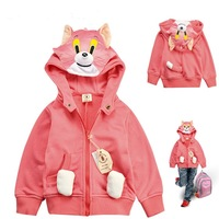 Cat Tom Model Girls Autumn Hooded Jacket,  Girls Autumn / Spring Cartoon Coat , freeshipping
