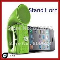 Horn speaker, Horn Stand Amplifier for iphone 4, loudSpeaker,4G No external power!  100pcs/lot