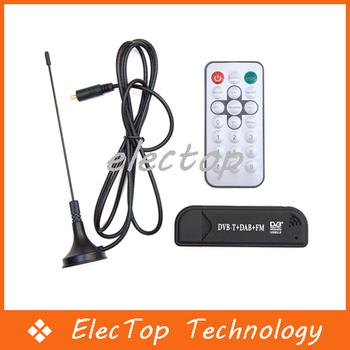 USB DVB-T Digital TV Receiver TV tuner Dongle With FM 75pcs/lot Wholesale