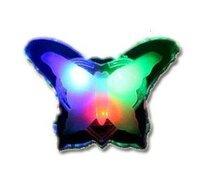 Free Shipping 10PCS/lot LED Simulation Color Butterfly Night Light,Emitting LED Night Light
