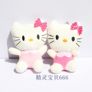 Wholesale Freeshipping  randomly color sent Cartoon bouquet material kt cat HELLO KITTY hello kitty plush toy doll PT3009