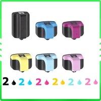 12 pcs New Compatible ink cartridge for Photosmart Printer C5180 C6180 3310 3210 HP 02/02XL
