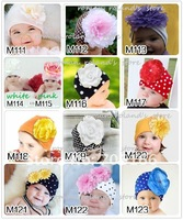 NEWEST baby hat,babies knitted big flower hat, Bordeaux dot beanies,Elves modelling cap,15pcs sell Mixed+CPAM free shipping