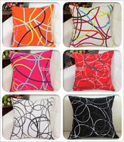 canvas cushion cover 100% cotton sofa cushion covers geometric pattern cushion cover 6 colors free shipping