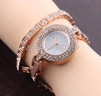 NEW Crystal Rhinestone Rose Gold women&#39; watch 100% Excellent Quality &quot;$10 off per $100 order&quot; Min.order is $15 (mix order)